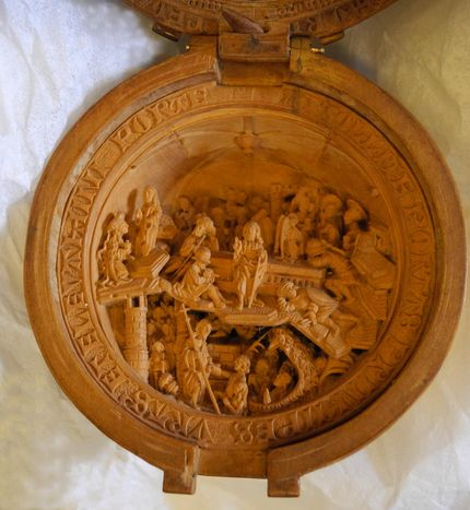Miniature tabernacle, carved in boxwood. Detail of rosary bead. Registration number: WB.233 Waddesdon Bequest. The British Museum. © Trustees of the British Museum