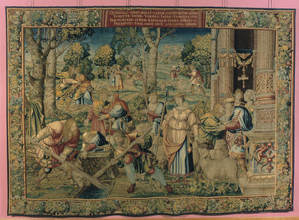 The Meeting of Jacob and Rachel from the Story of Jacob series, designed by Bernaert van Orley, Brussels, 1530-40 (inv. 8586)