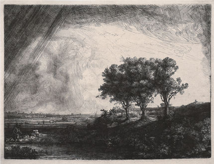 Rembrandt, The three trees, 1643. Moscow, Pushkin State Museum of Fine Arts