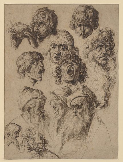 Jacob de Gheyn II, Study of eleven heads, ca. 1604-1620s. The Metropolitan Museum of Art, New York, purchase, Harris Brisbane Dick Fund, Frits and Rita Markus Fund, and Charles and Jessie Price Gift, acc. 2006.101