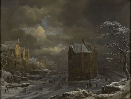 "Jacob Isaacsz van Ruisdael, Winter View of the ""Hekelveld"" in Amsterdam. The Bute Collection at Mount Stuart"