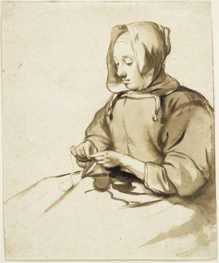 Gerbrand van den Eeckhout, A Woman doing Handwork. The Maida and George Abrams Collection, Fogg Art Museum, Harvard University, Cambridge, Massachusetts, Promised Gift, 25.1998.55