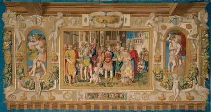 The Unity of the State from a set of the Gallery of Francis I. Design: Francesco Primaticcio (1504-1570), Rosso Fiorentino (1494-1540). cartoon: Claude Badouin and others. weavers: Jean and Pierre Le Bries, Fontainebleau 1540-47. ©Kunsthistorisches Museum,  Inv. No. T CV/6, 326,5 cm x 620,5 cm