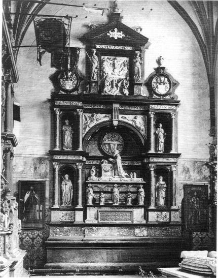 Cornelis Floris, Tomb of Albrecht of Brandenburg-Ansbach, ca. 1569, destroyed in 1944, Königsberg Cathedral (Kaliningrad, Russian Federation)