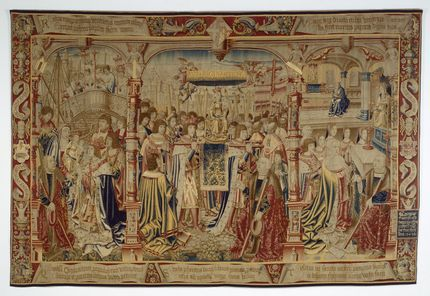 The fourth tapestry from the Legend of Notre Dame du Sablon series, designed by Bernaert van Orley, Brussels, 1516-18 (Inv 3153)