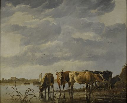 Aelbert Cuyp, Cattle Watering by an Estuary. The Bute Collection at Mount Stuart