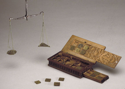 Unidentified Artist (Cologne) and Guilliam de Neve, Box of Coin Weights and Scales, Detroit Instiute of Arts
