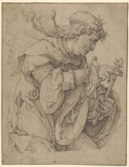 Lucas van Leyden, The Archangel Gabriel announcing the birth of Christ, ca. 1520. The Metropolitan Museum of Art, New York, promised Gift of Leon D. and Debra R. Black, and purchase, Lila Acheson Wallace Gift and 2007 Benefit Fund, acc. 2008.253