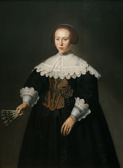 Dirck Santvoort, Portrait of a lady. Auckland Art Gallery Toi o T ̄amaki, Auckland (gift of P.A.N. Nathan, 1963)