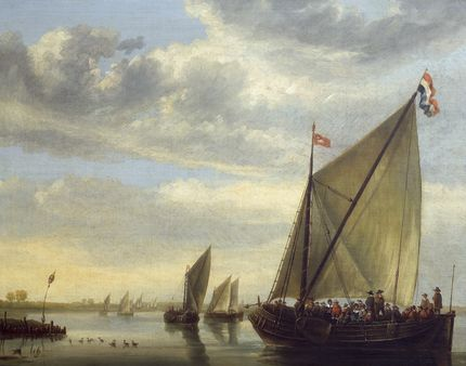 Aelbert Cuyp, River Scene with a Ferry Boat. Auckland Art Gallery Toi o T ̄amaki, Auckland (gift of Sir George Grey, 1887)