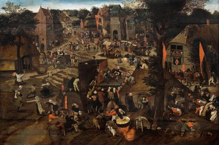 Pieter Brueghel the Younger, A Village fair (Village festival in honour of Saint Hubert and Saint Anthony). Auckland Art Gallery Toi o Tāmaki (purchased 1961)